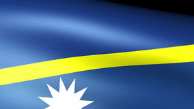 Nauru Flag Waving royalty free illustration