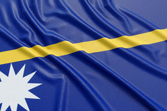Nauru flag Royalty Free Stock Photos
