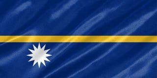 Nauru-Flagge lizenzfreie abbildung