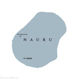Nauru political map. With capital Yaren. Formerly Pleasant Island. A republic and island country in Micronesia in the Central Pacific. English labeling. Gray Stock Images
