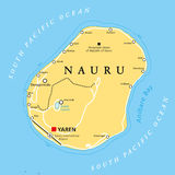 Nauru Political Map Royalty Free Stock Photos