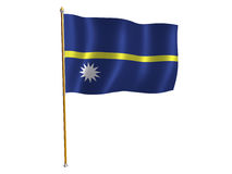 Nauru silk flag Royalty Free Stock Photography
