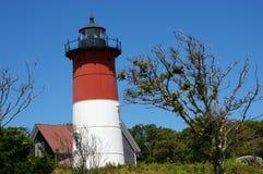 Nauset latarnia morska Cape Cod MA Obrazy Stock