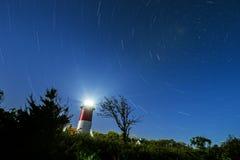 Nauset-Leuchtturm-Sternspuren Lizenzfreie Stockfotos