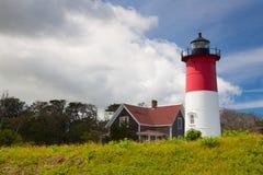 Nauset-Licht-Leuchtturm in Eastham, USA stockfotografie