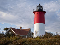 Nauset Light lighthouse Eastham Cape Cod MA Stock Photo