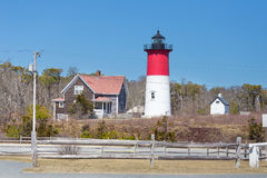 Nauset Lighthouse in Cape Cod Royalty Free Stock Photos