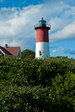 Nauset Lighthouse on Summer Day With Clouds Royalty Free Stock Image