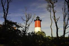 Nausetvuurtoren Cape Cod Stock Foto