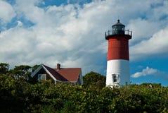 Nausetvuurtoren op Cape Cod, doctorandus in de letteren Royalty-vrije Stock Foto's
