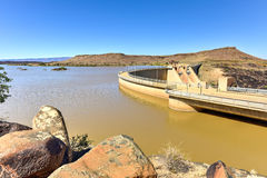 Naute Dam - Namibia. The Naute Dam is a dam outside of Keetmanshoop in the Karas Region of Namibia. It was built between 1970-1972 and was officially Royalty Free Stock Images