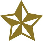 Nautic golden star. Symbol vector Royalty Free Stock Photos