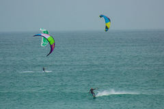 Nautic-Sport: kitesurf Stockfotos