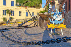 Nautic Statue in Chania Stock Images