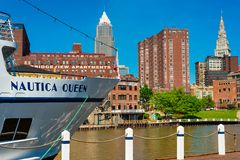 Nauticakoningin van Cleveland Ohio Stock Foto's