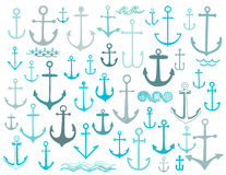 Nautical anchor collection Stock Photography