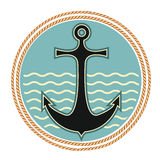 Nautical anchor symbol vector illustration