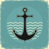 Nautical anchor.Vintage image Stock Photography