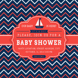 Nautical baby shower card. Stock Photography