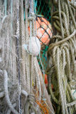 Nautical background. Closeup of old colorful mooring ropes , Old Royalty Free Stock Photography