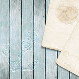 Nautical background with note Royalty Free Stock Photo