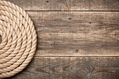 Nautical background with rope. Copy space Royalty Free Stock Photos