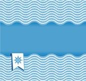 Nautical background with ropes royalty free illustration