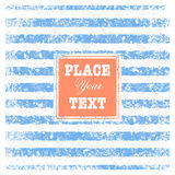 Nautical background with text. Vintage scrap nautical background with stripes and text Royalty Free Stock Photography