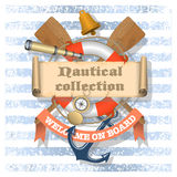 Nautical background with text Royalty Free Stock Photography