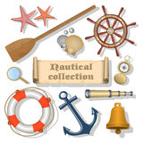 Nautical background with text Stock Images