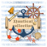 Nautical background with text Stock Photo