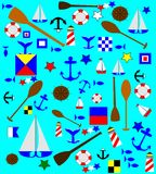 Nautical background. With variety of elements Royalty Free Stock Photography