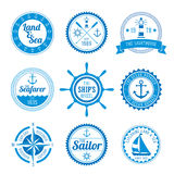 Nautical Badges Royalty Free Stock Photos