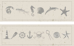 Nautical Banners Stock Photos