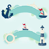 Nautical banners Royalty Free Stock Photo