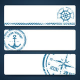 Nautical banners Royalty Free Stock Photography