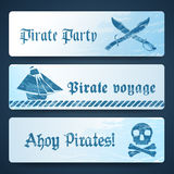 Nautical banners Stock Images