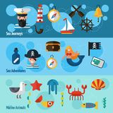 Nautical Banners Set Royalty Free Stock Photo