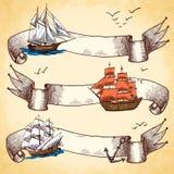 Nautical banners set set Royalty Free Stock Photo