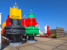 Nautical Buoys in a storage Royalty Free Stock Images
