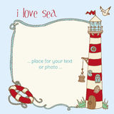 Nautical Card Royalty Free Stock Images