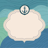 Nautical card design Royalty Free Stock Photos