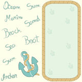 Nautical card Stock Photos