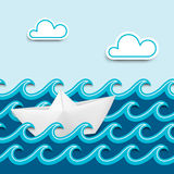 Nautical cartoon scenery Royalty Free Stock Images