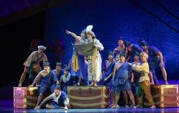 "Nautical chart-Dance drama ""The Dream of Maritime Silk Road"" Stock Photos"