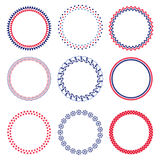 Nautical circle frames Stock Images