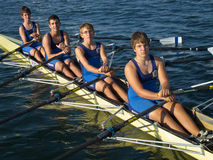 Nautical Club of Thessaloniki school rowing Stock Image