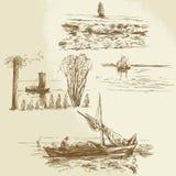 Nautical collection stock illustration