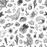 Nautical collection. Pattern. Royalty Free Stock Photography