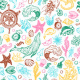 Nautical collection. Pattern Stock Images